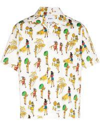 WTAPS Sly Graphic-print Short-sleeve Shirt - White