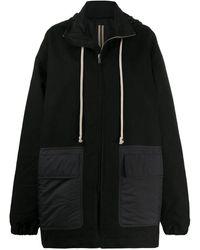 Rick Owens Drkshdw Oversize Padded Coat With Drawstring Detail - Black