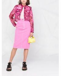 Mr & Mrs Italy Blossom カモフラージュ クロップドジャケット - ピンク
