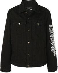 DOMREBEL Flower Denim Jacket - Black