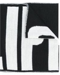 Philipp Plein ロゴ ニットスカーフ - ブラック