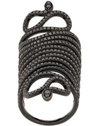 Loree Rodkin Snake Armour Ring - Black