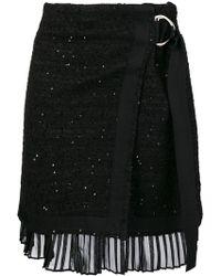 Karl Lagerfeld - Scattered Sequin Bouclé Wrap Skirt - Lyst