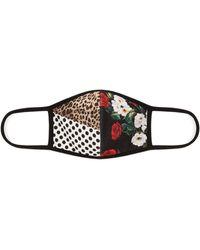 Dolce & Gabbana プリント フェイスマスク - ブラック