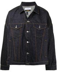 Facetasm Veste boutonnée en jean - Bleu