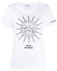 RED Valentino T-shirt imprimé - Blanc