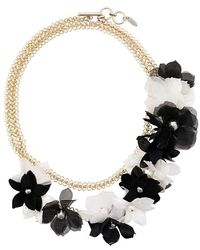 Lanvin - Flower Embellished Necklace - Lyst