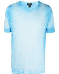 Avant Toi T-shirt à effet délavé - Bleu