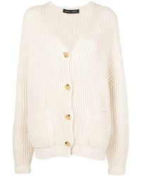 Proenza Schouler Chunky Ribbed Cardigan - Natural