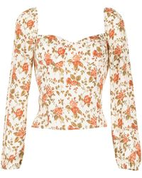 Reformation All Over Floral-print Blouse - Multicolour