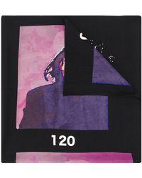 Yohji Yamamoto Graphic Print Scarf - Black