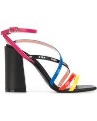 MSGM Strappy Design Sandals - Black