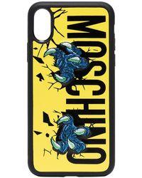 Moschino Iphone X Hoesje Met Logoprint - Zwart