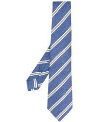 Kiton Cravate à pois - Bleu