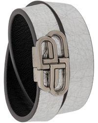 Balenciaga Bb Double Wrap Bracelet - Metallic