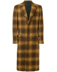 AMI - Three Buttons Long Coat - Lyst