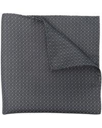 Pal Zileri Chain-link Silk Square Scarf - Grey