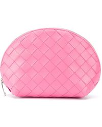 Bottega Veneta Trousse make up Intrecciato - Rosa