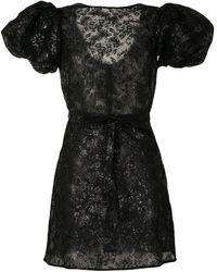 The Vampire's Wife Scoop Dog Lace Mini Dress - Black