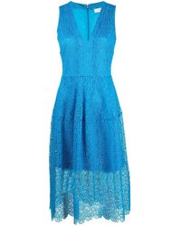 MICHAEL Michael Kors レースオーバーレイ ドレス - ブルー