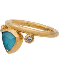 Katerina Makriyianni - Turquoise Gold Crown Ring - Lyst