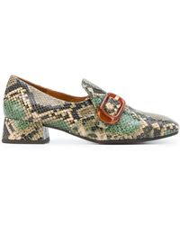 Chie Mihara Mili Buckle Loafers - Green