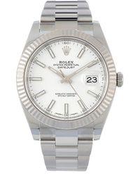 Rolex - Наручные Часы Oyster Perpetual Datejust Pre-owned 41 Мм 2020-го Года - Lyst