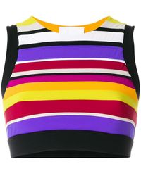 NO KA 'OI Striped Cropped Top - Multicolor