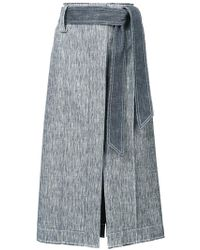 Derek Lam - Belted Pencil Skirt - Lyst