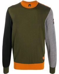 Raeburn カラーブロック セーター - グリーン