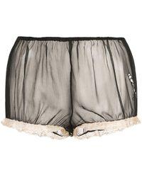 Kiki de Montparnasse - X Caroline Vreeland Microphone Sheer Shorts - Lyst
