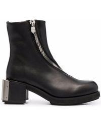 GmbH Logo Plaque Ankle Boots - Black