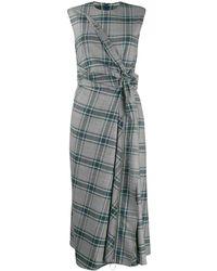 Cedric Charlier Kleid mit Knoten - Grau