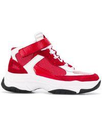 Calvin Klein Baskets à empiècement en résille - Rouge