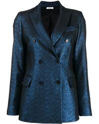 P.A.R.O.S.H. Metallic double breasted blazer - Blu