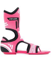 Prada Flache Sandalen für Damen - Pink