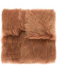 Rochas - Long Haired Lamb Shearling Shawl - Lyst