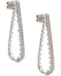Colette ダイヤモンド&パール ピアス 18kホワイトゴールド - マルチカラー