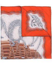 Hermès Sjaal Met Print - Rood
