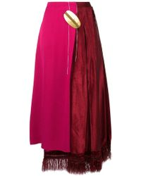 Marni Asymmetric High-waisted Skirt - Roze