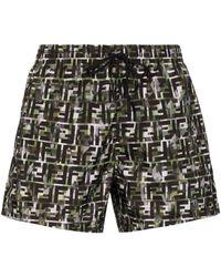 Fendi Плавки-шорты С Логотипом Ff - Черный