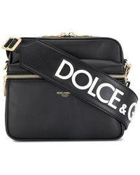 c168b9b7d8 Dolce & Gabbana Small Crossbody Bag in Black for Men - Lyst