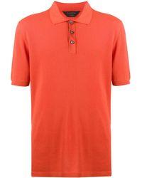Ermenegildo Zegna Polo con ricamo - Arancione