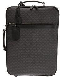 Emporio Armani Monogram Wheely Case - Grey
