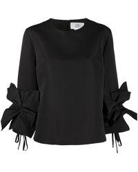 Victoria, Victoria Beckham Блузка Со Сборками На Рукавах - Черный