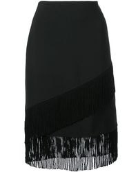 Natori Юбка-карандаш С Бахромой - Черный