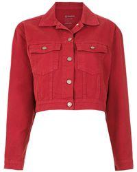 Osklen Cropped denim jacket - Rot