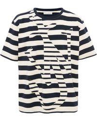 JW Anderson Anchor ストライプ Tシャツ - ホワイト