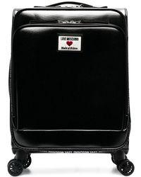 Love Moschino Maleta con parche del logo - Negro