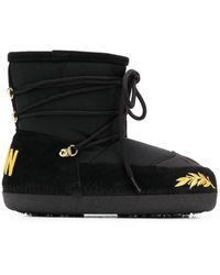 DSquared² Icon Embroidered Snow Boots - Black